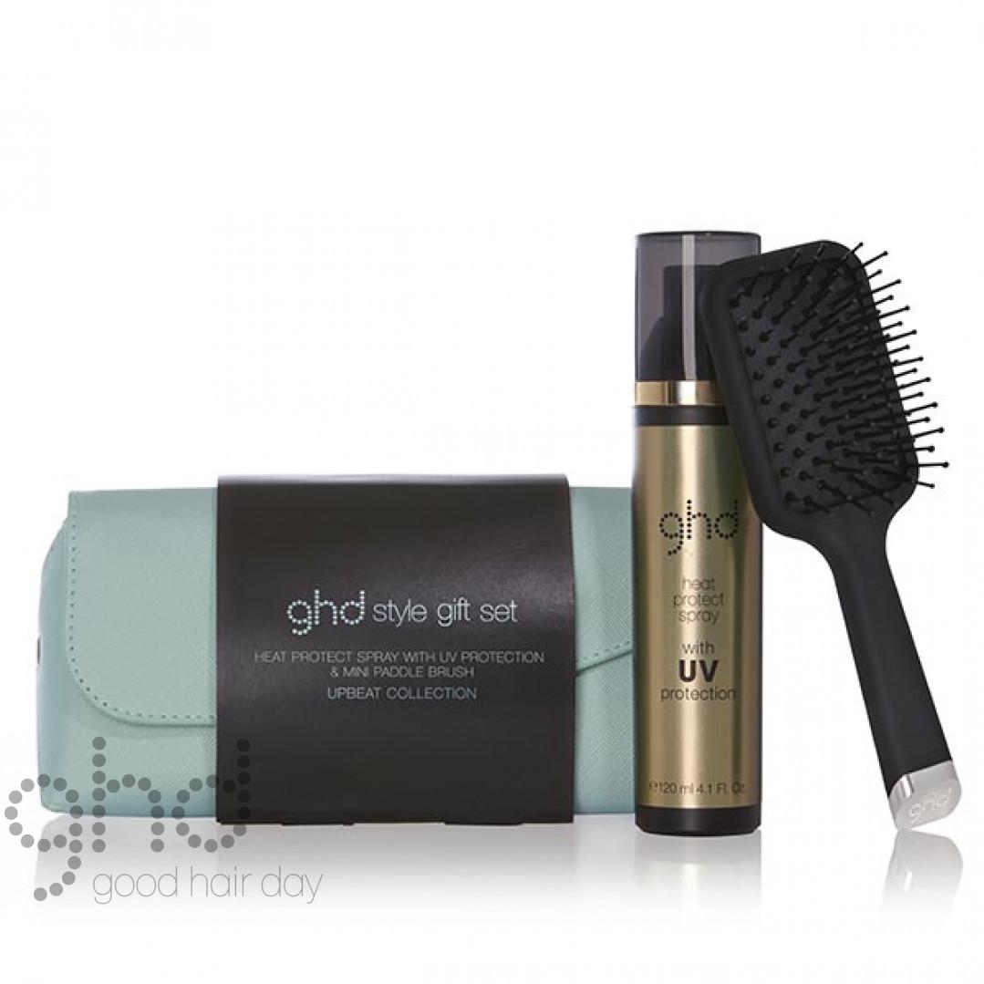 Подарочный стайлинг набор щетка + спрей + косметичка GHD Style Gift Set 10000023119