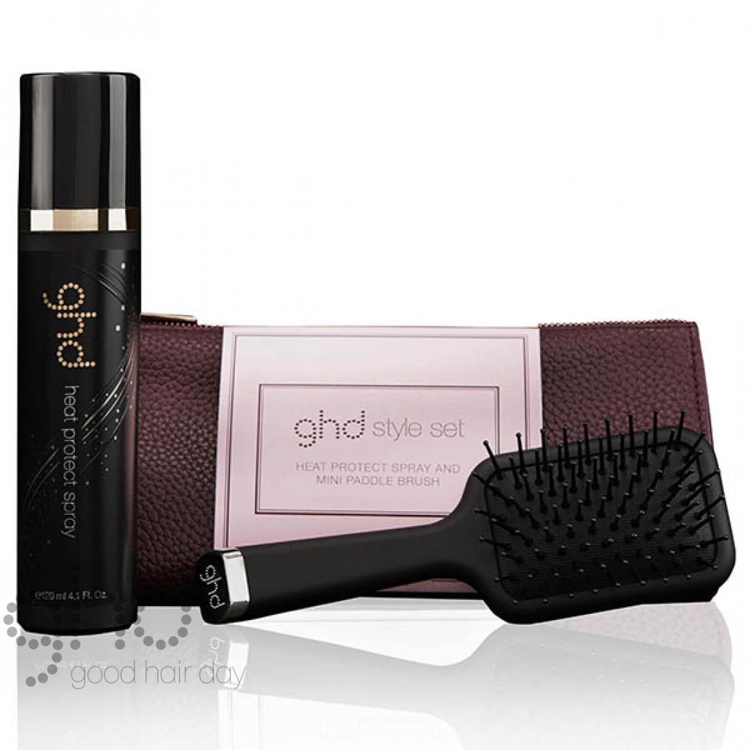 Подарочный стайлинг набор щетка + спрей + косметичка GHD Королевская Династия Style Set 99350052062