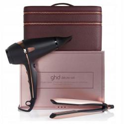 Подарочный набор Королевская Династия стайлер Platinum+ розовое золото + фен Air + несессер GHD 99350052064